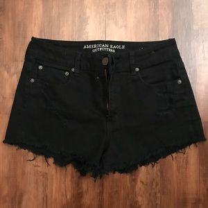 Black stretch jean shorts!